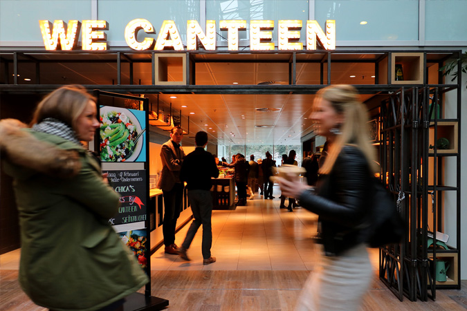 Entree We Canteen in WTC Amsterdam